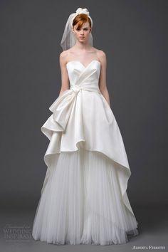 Alberta Ferretti nupcial 2015 sin tirantes del vestido de boda pegaso
