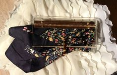 Vintage c.1960s Liberty of London floral silk scarf with black border