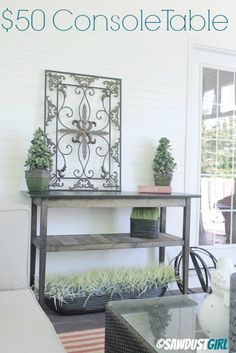 How to build a diy console table http://thesawdustdiaries.com/two-toned-diy-console-table/