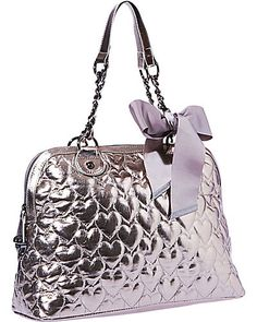 Yours Mine Ours Dome Satch Metallic Betsy Johnson Betsey Handbags