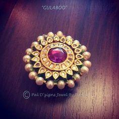 traditional indian/pakistani ring- kundun jewelry