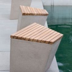 52 Outdoor Concrete Furniture Ideas - home/home Cheap Patio Furniture, Bench Furniture, Urban Furniture, Street Furniture, Garden Furniture, Furniture Design, Furniture Ideas, Recycled Furniture, Furniture Outlet