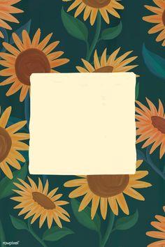 Pastel Wallpaper, Wallpaper Backgrounds, Sunflower Iphone Wallpaper, Flower Wallpaper, Aesthetic Iphone Wallpaper, Aesthetic Wallpapers, Polaroid Picture Frame, Picture Frames, Instagram Frame Template
