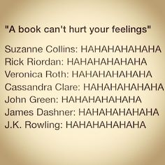 VILE..... No I still love you Uncle Rick and Rowling..... VILE AUTHORS THAT ARENT THEM