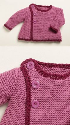 Free Knitting Pattern for Baby Cardigans Baby , Free Knitting Pattern for Baby Cardigans Free Knitting Pattern for Baby Cardigans Easy Baby Kids. Baby Cardigan Knitting Pattern Free, Baby Sweater Patterns, Poncho Knitting Patterns, Knit Baby Sweaters, Free Knitting, Cardigan Bebe, Knit Cardigan, Free Baby Patterns, Knitting For Charity