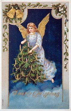 angel lighting tree candles