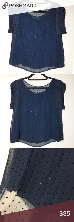 """Alice + Olivia silk beaded sheer overlay blouse S Excellent pre-loved condition. Attached cami underneath. No beads missing that I am able to note. Perfect for a night out!! Boxy fit, slight crop. Approx 32"""" bust, 19"""" length. ✅offers❌trades/PP make an offer on bundles Alice + Olivia Tops Blouses"""