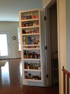 Pantry Door shelf. Extra shelving....brilliant