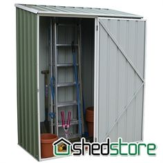 Absco Easy Store 1PE Green Metal Shed