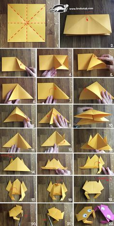 Origami crab children activities, more than 2000 coloring pages Origami Star Box, Origami 3d, Kids Origami, Origami Dragon, Origami Fish, Modular Origami, Paper Crafts Origami, Origami Flowers, Paper Crafting