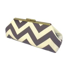 Handcrafted chevron clutch. Made in the USA.   Product: ClutchConstruction Material: Polyester and faux silk...