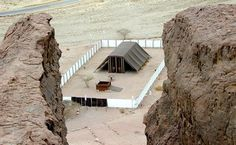 Exact replica of the tabernacle with the very same measurements God commanded Moses to make it. Not same materials though. Located at Timna park in Israel