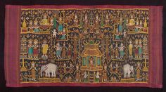 A pidan is a type of silk cloth used in Cambodian weddings, funerals, and Buddhist ceremonies as a canopy or tapestry. Description from khmer440.com. I searched for this on bing.com/images Cambodian Wedding, Weaving Projects, Art Institute Of Chicago, Angkor, Folk Art, Arts And Crafts, Textiles, Tapestry, Symbols