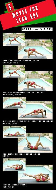 Lean Abs Exercises - GymRa.com