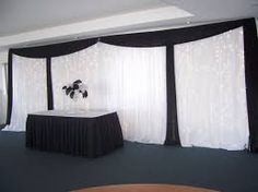 black and white wedding backdrop with lights - Google Search