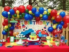 Sesame Street Party Decorations First Birthday Streets Graceful