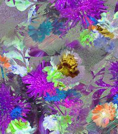 Digitised photo floral, Samantha Warren