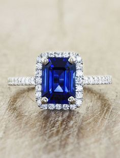 what a perfect something blue engagement ring. ~ Ken and Dana Design