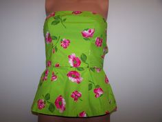 Hollister NWT Size Small Floral Tube Top Multi Color Tube Top  #hollister #Peplum #Casual
