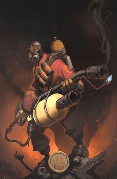 Fire, Fire, Fire! (Art by Moby Francke - Pyro, Team Fortress 2)