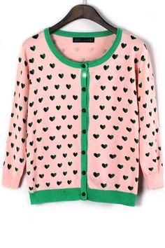 Sweetheart Knit Cardigan - OASAP.com