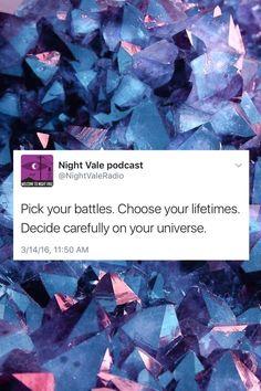 """skir4y: """"night vale tweets + crystals """""""