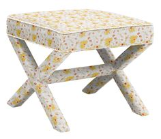 Tolstoy Ottoman in Decorated Florals, featured on Guildery