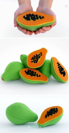 Baby toys Papaya Organic toys for baby Waldorf toys Toddler gift for baby Toddler toys Baby gift eco friendly Natural baby toy – toys Easy Felt Crafts, Felt Diy, Crafts For Kids, Foam Crafts, Toddler Gifts, Toddler Toys, Baby Gifts, Felt Fruit, Felt Play Food
