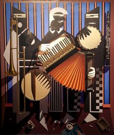 Take Five, a painting depicting three musicians, by Gary Erbe