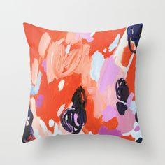 how can a smattering of colors be so pretty?! | Pie For Breakfast Throw Pillow: society6.