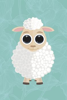 cute sheep draw drawing painted draw drawing art lightning glasses style iMac apple illustrator vector png jpg blue illustration painted