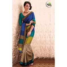 Lovely multi color printeed saree with blouse - Online Shopping for Designer Sarees by Saree Swarg