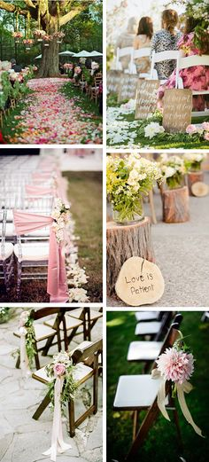 """Unsure what to do with your aisle at an outdoor wedding? Consider these soft, romantic touches to make walking to and from your """"I do's"""" that much more amazing!"""