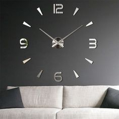 Hot DIY Wall Clock Home Modern Decoration Crystal Mirror Sticker Living Room moving off kan Wall Clock Sticker, Mirror Wall Clock, 3d Mirror, Wall Clocks, Mirrors, Home Modern, Modern Room, Modern Decor, Mirror Stickers