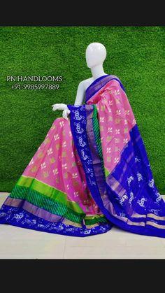 Ikkat Pattu Sarees, Pochampally Sarees, Wedding Nails, Wedding Rings, Picnic Blanket, Outdoor Blanket, Bollywood Saree, Pink Saree, Half Saree