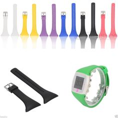 Silicone Rubber Watch Band Buckle Strap Replacement For Polar Ft4 Ft7 Watch