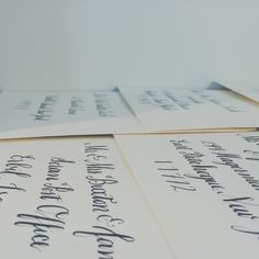 custom calligraphy by bedsidesign