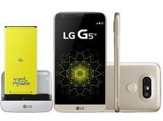 "Smartphone LG G5 SE 32GB Dourado 4G Câm. - 16MP + Selfie 8MP Flash Tela 5.3"" QHD Octa Core"