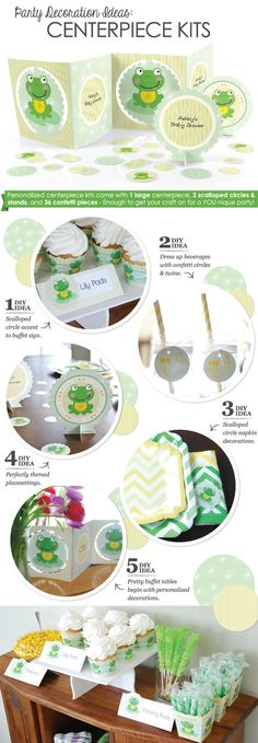 Party Decoration Ideas: Personalized Centerpiece Kits