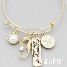 Dreaming Of The Sea Sand Dollar Seahorse Bracelet