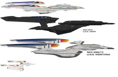 Using 's Vidar, and 's USS Montana, and my USS Yamato-E and USS Dreadnought, you can see the sheer size of both the Vidar and Ody in comparison to the l. Star Trek Bridge, Star Trek Tv, Star Trek Ships, Spaceship Design, Spaceship Concept, Concept Ships, Star Trek Starships, Star Trek Enterprise, Star Terk