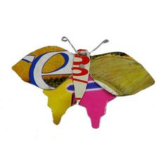 Ados Butterfly Pin - Fair Trade jewelry pin from Kenya. Handcrafted from recycled tin cans. $18