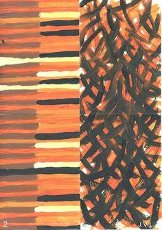 Expérience sous influence 2 + 4 Acrylique sur papier 4xA6 30-07-14