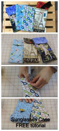 We have brought you today a FREE video showing you how to make a Sunglasses Case. The 13-minute video shows you how you could make your very own sunglasses or eyeglasses case in just 10 to 15 minutes. The detailed video takes you through this simple task and once you have made one you'll want to make others as gifts or even to sell.