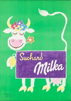 Herbert Leupin, Milka, 1952. Museum für Gestaltung Zürich