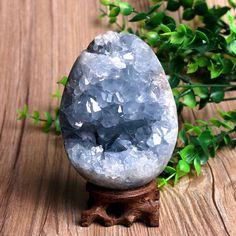 Natural Blue Celestite Geode/Pure Natural Celestite / by FBstone