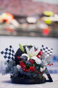 Lily Greenthumb's Wedding and Event Design added 206 new photos to the album: 2012 Weddings and Events. Car Themed Wedding, Our Wedding, Dream Wedding, Wedding Ideas, Perfect Wedding, Nascar Party, Race Party, Race Car Themes, Decoration Table