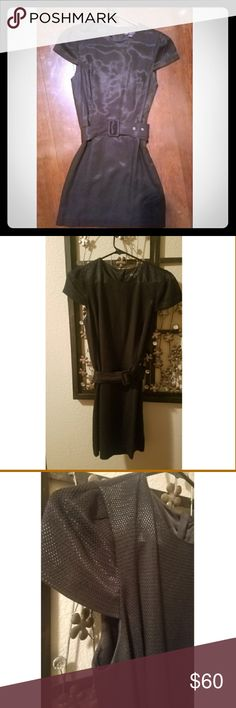 Armani Exchange Little Black Dress Unique and Beautiful AX black dress. Comes with belt for a sinched waist. Belt can be removed. In mint condition with no stains or tears. Look stunning any occasion or season! Armani Exchange Dresses