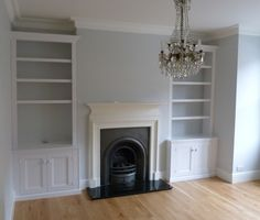 30 Super Ideas For House Interior Ideas Lounge Victorian Terrace Alcove Storage, Alcove Shelving, Alcove Cupboards, Wall Storage, Storage Ideas, Wall Shelves, Painted Cupboards, Tv Shelf, White Shelves