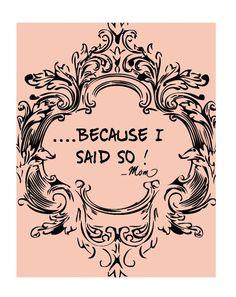 I still say this....